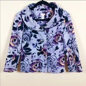 Anthropologie's ODILLE lavender velvet cord jacket